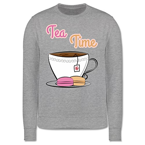Küche - Tea Time - Herren Premium Pullover Grau Meliert