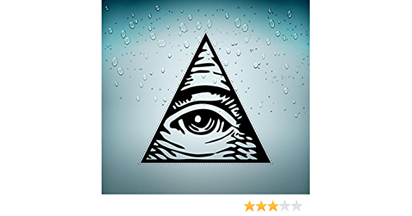 Akachafactory Aufkleber Sticker Auto Motorrad Biker /½ ES Illuminati /½ ES Pyramide R3