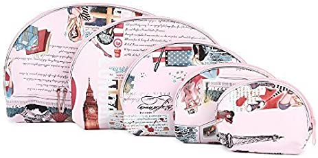 uberlyfe Big Ben Multipurpose PU Leather Pouch for Women (Pink, PU-001093-VINPK_B) - Set of 5