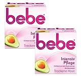 bebe Intensiv Pflege - Sanfte Feuchtigkeitscreme für trockene Haut - mit Avocadoöl und Sheabutter - 2 x 50ml