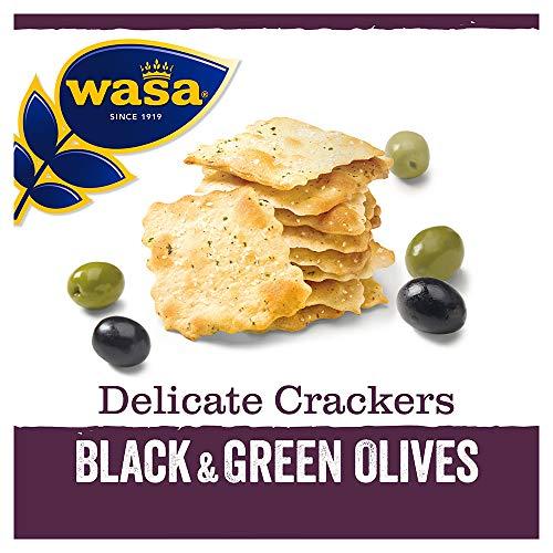 Wasa Knäckebrot Delicate Cracker Schwarze und grüne Oliven, 150 g