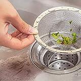 BIRD WORKS Abflussstopfen für Küche, Badezimmer, Edelstahl, 4 Größen (M L XL), 90 mm