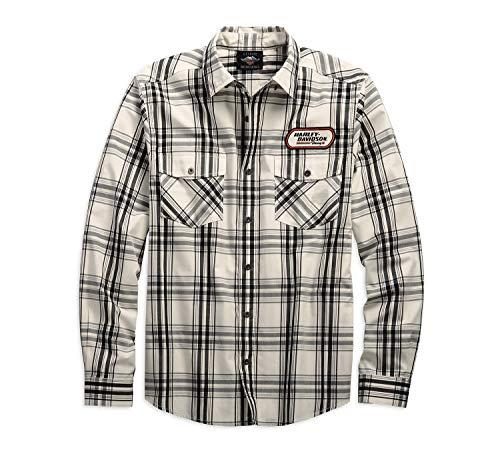 HARLEY-DAVIDSON® Men's H-D Racing Long Sleeve Plaid Shirt - 99162-19VM - Snapdown Shirt