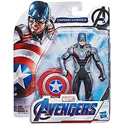 Marvel Avengers - Figurine Marvel Avengers Endgame - Captain America Team Suit - 15 cm - Jouet Avengers