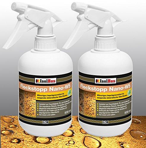 Fleckstop Nano 1 Liter SPRAY Spezial Imprägnierung Natursteinversiegelung WS NANO +
