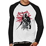 The Witcher Sumi E Geralt Men's Baseball Long Sleeved T-Shirt