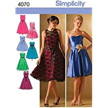 f427faa615 Simplicity 4070 P5 - Patrones de costura para vestidos de fiesta de chica y  mujer
