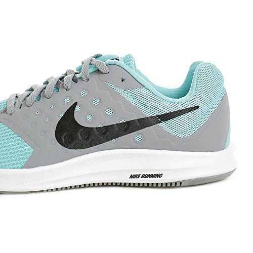 Nike Damen Downshifter 7 Laufschuhe, Weiß/Rosa Lagune