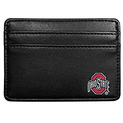 NCAA Ohio State Buckeyes Leather Weekend Wallet, Black
