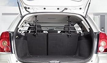 IMPAG® Grille pour chien ?Safeguard? et pour bagages | sans perçage | adaptable et universelle | grille de séparation en métal | grille de protection et grille de protection pour chien dans la voiture | chiens et bagages