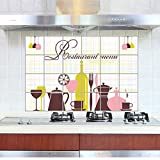 ALLDOLWEGE Romantisches Extra große Küche Schränke Öl- Aufkleber selbstklebende Haube herd Hitzebeständige home Marmor Fliesen wasserdicht, ölbeständige Aufkleber 8.