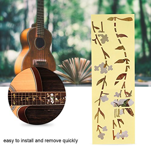 Inlay Aufkleber Marker, Bud und Vogel Muster Aufkleber für Akustische E Gitarre Griffbrett Dekor