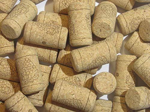100 bedruckte Weinflaschenkorken - Bulk Nr. 9 Agglomerated Naturkorken am besten für Korken, für junge hausgemachte Winemaking mit Korkenzieher oder Bastelkorken für DIY Kunstprojekte