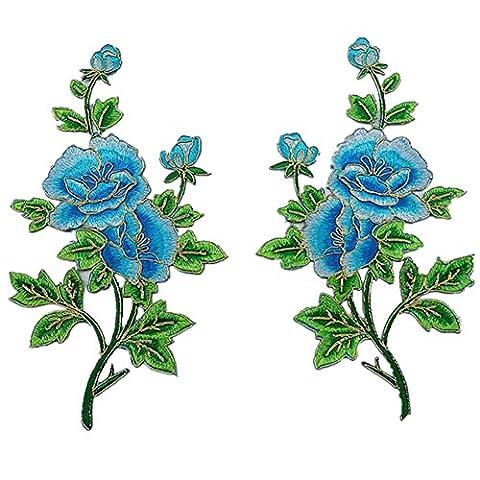 Ximkee 1 Paar Pfingstrose Rose Blumen Knospen auf Reben mit