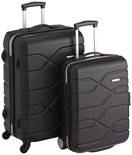 American Tourister 59623/1041 - Juego de maletas, 70.5 cm/ 68 L, 55 cm/ 34.5 L, color negro