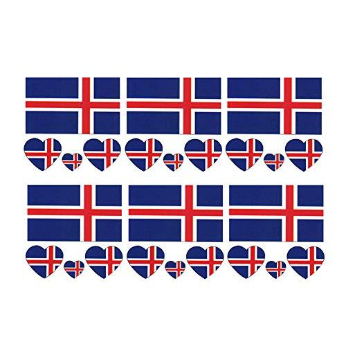 Nationalflaggen Modische Temporary Island Flaggen Tattoo Gesicht Körper Aufkleber für Fußball-Fans Fußball schauen Sport Spiel 6 Sheets ()