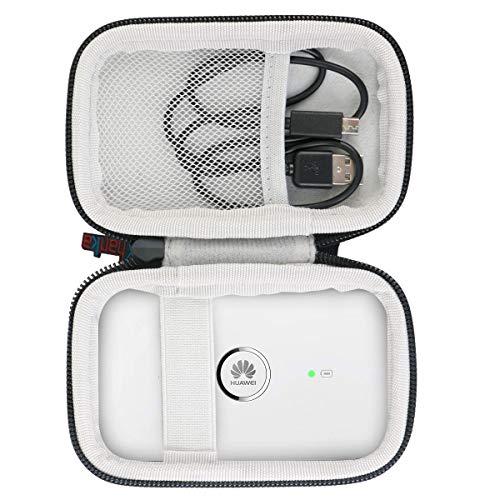 Khanka case Tasche Hülle Für Huawei E5573Cs-322/E5573s-320/E5573Cs/E5330mobile WiFi LTE Hotspot WI-Fi-Gerät Breitband Router. (Schwarz und weiß) - Breitband-geräte