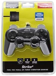 Speedlink Strike 2 Manette Filaire pour Playstation 2/Ps2 (Fonction de Vibrations, Jusqu'à 8H de Jeu)