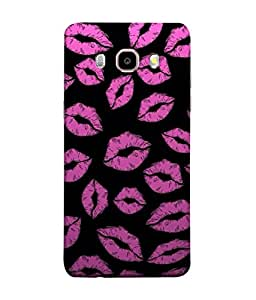 Snapdilla Designer Back Case Cover for Samsung Galaxy On8 Sm-J710Fn/Df (Graphic Illustration Pink Art Background Beauty Romantic)