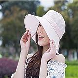 GAOQIANGFENG Womens UPF 50 + Hut, Damen, Sommer, Anti-UV-Helm, Damenreit-Elektroauto, Sonnenhut, Sonnenstrandhelm, Weiß