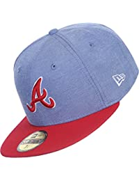 3b4b70a3f0cb Atlanta Braves MLB Blue   Red Multiox New Era 59Fifty Fitted Baseball Cap