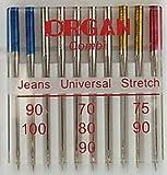 Organ Aghi per macchine da cucire 130/705, universali/stretch/jeans
