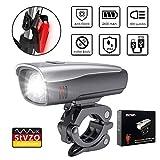 zknen LED Fahrradlichter Set, 2600mAh Zugelassen USB Wiederaufladbare LED Fahrradlicht Set, LED Fahrradbeleuchtung Set inkl Frontlicht und Rücklicht, wasserdichte Fahrradlampe Set