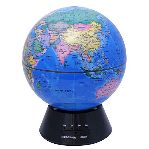 Globe-diffusor (LuYi-Ww New Globe Air Aroma Diffusor 7 Farbe LED Lichter Luftbefeuchter Große Kapazität Stumm Ultraschall Büro, Haus, Schlafzimmer, Babyraum)