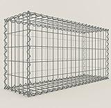 Gabiona | eckige Gabionenkörbe | befüllbare Steinkörbe | witterungsbeständiger Gitterkorb | ausgefallener Drahtkorb | made in Germany | 100 x 50 x 30 cm