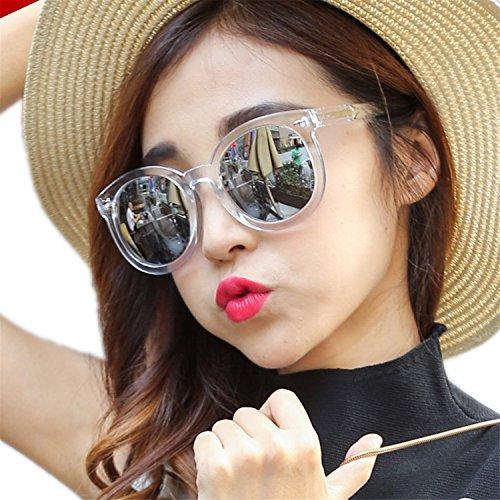 HCIUUI 2018 new sunglasses female tide star with round face sunglasses female Korean personality Korean long face glasses