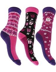 Chaussettes fantaisie, motif Noël (lot de 3 paires) - Femme