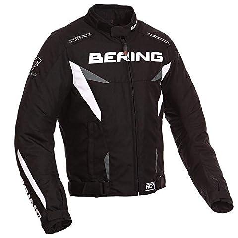 BERING Blouson Moto Fizio, Noir/Anthracite, M