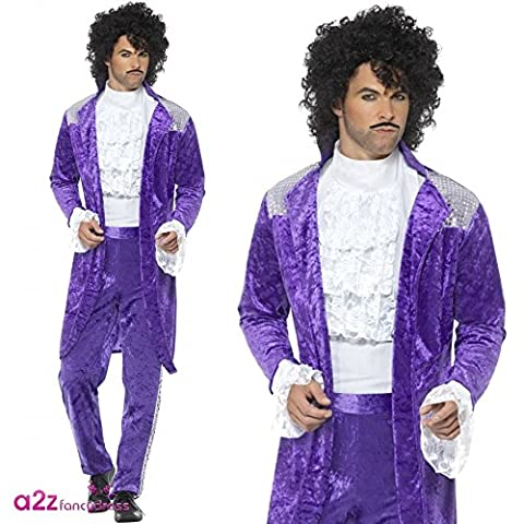 Kid Rock Star Costume - Smiffy's 48004 Smiffys 80S Purple Musician Costume