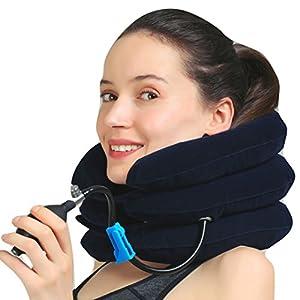 Medized Aufblasbar Zervikal Hals Ziehkraft Gerät Verbessern Wirbelsäule Anpassung Verringert Hals Schmerzen Gebärmutterhalskrebs Kragen Verstellbar