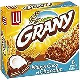 Lu Grany 6 barres céréales noix de coco chocolat 125g - ( Prix Unitaire ) - Envoi Rapide Et Soignée