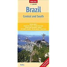 Brazil South 1 : 2.500.000: Länderkarte, zusätzliche Detailkarten (Nelles Map)