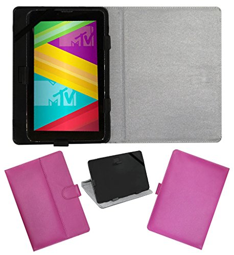 ACM LEATHER FLIP FLAP TABLET HOLDER CARRY CASE STAND COVER FOR SWIPE MTV SLASH 4X PINK  available at amazon for Rs.199