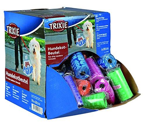 Trixie 22843 Dog Pick Up Display Hundekotbeutel, M, 70 Rollen a 20 Stück, sortiert