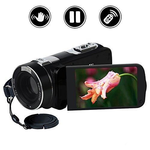 Videokamera Full HD 1080p Kamera Camcorder 24,0 Megapixel 18x Digitaler Zoom 2,7 Zoll Drehbarem LCD-Display Mit Fernbedienung
