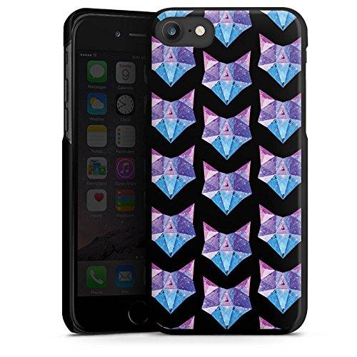 Apple iPhone 6s Tasche Hülle Flip Case Space Fox Fuchs Muster Hard Case schwarz