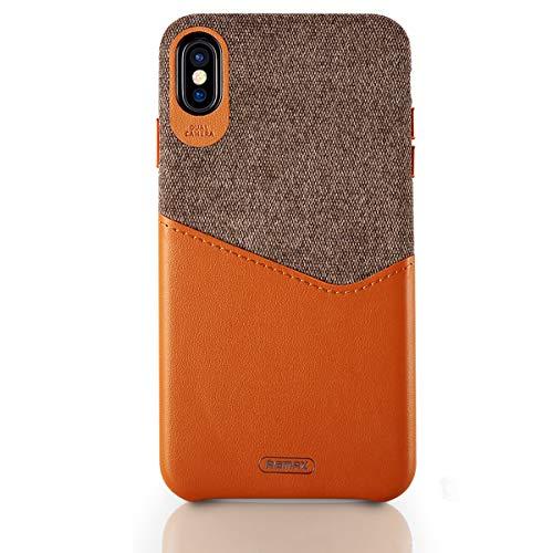 KelaSip Schutzhülle für iPhone XS/XS MAX/XR, Leder, schlankes Design, kreatives Kreditkartenfach, stoßdämpfende Schutzhülle, iPhone X/iPhone XS, Khaki Schlankes Design