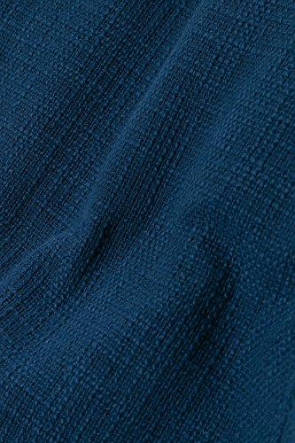 Ulla Popken Femme Grandes tailles Veste motard 706273 bleu du fond des mers