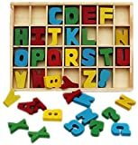 #3: Blossom 26 Letters Wooden Alphabet Blocks for Toddlers,Pre-Schoolers,Nursery kids for learning the Alphabets and its Shape,Multi Color.