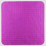 Alfombra antideslizante para ducha, Square Alfombra Antideslizante de Baño,51 x 51 cm,Púrpura