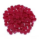 Everpert, Sigilli di cera per buste, In ceralacca, Stile vintage, 100 pezzi, a perline Wine Red