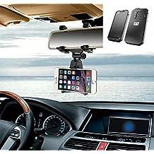 Supporto Smartphone specchietto retrovisore per Caterpillar Cat S60, nero | Specchio Holder staffa auto - K-S-Trade (TM) - Guida All'acquisto Holder