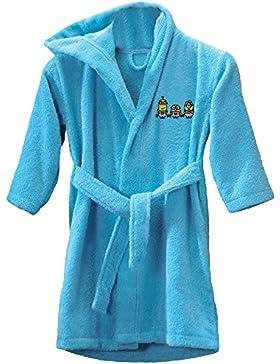CTI 043019 - Albornoz para niños de 6 a 8 años, diseño de Los Minions, color azul