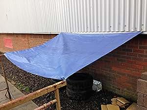Yuzet Blue 2.7m x 3.5m Heavy Duty Waterproof Tarpaulin Ground Sheet Cover