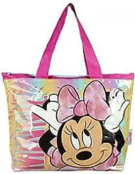 Artesanía Cerdá 2100000976 Minnie Bolsa de Tela y de Playa, Color Rosa