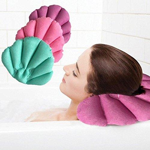 Dosige 1Pcs Aufblasbare Badewannenkissen Badezimmerkissen Aufblasbare Badewanne Kissen Badewannenkissen Kissen Badezimmer mit Saugnäpfe zufällige Farben